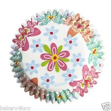 75 SPRING SUMMER EASTER FLOWERS CUPCAKE LINERS BAKING CUPS BIRTHDAY PARTY SUPPLY
