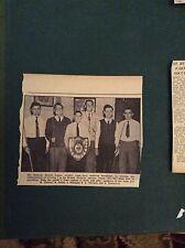 G1-1  Ephemera 1965 picture redruth british legion snooker team c ford trevena