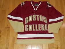 Vintage Nike BOSTON COLLEGE BC EAGLES Mens Stitched NCAA Hockey Team JERSEY Sm