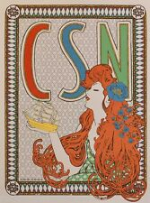 Crosby Stills Nash Official Concert Poster CSN North American Tour 2014 A Mucha
