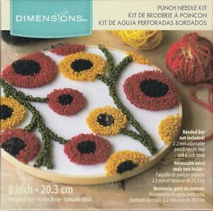 FLORAL PATTERN Punched Needle Kit 20.3cm, 72-70023, Tracked Post