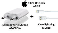 Cavo Apple Lightning ORIGINALE per iPhone 6 5 S 7 SE + Carica Batteria ORIGINALE