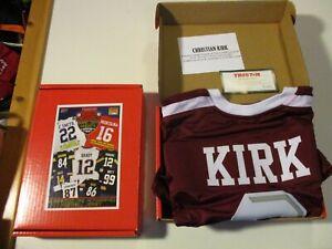 CHRISTIAN KIRK TEXAS A&M #3 TRISTAR HIDDEN TREASURES SIGNED FOOTBALL JERSEY NEW