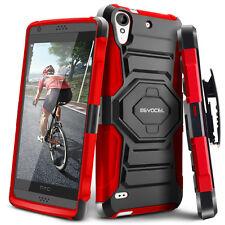 HTC Desire 530 Case, Evocel Rugged Holster Case w/ Kickstand & Belt Clip