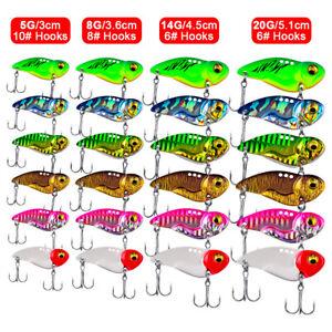 Lot 6x Metal Blade Fishing Lures Hard VIB Bait Crankbaits Fish Lures