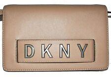 DKNY Latte Saffiano Leather Flap Purse  Crossbody NWT