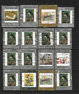 Canada Art Canada Masterpieces of Canadian Art used stamps with faults