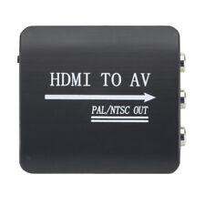 HDMI zu Composite Cinch Konverter, 1080p Video Audio HDMI 2 AV FL / FR
