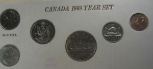 1968 Small Island Canada Year Set. + Silver Quarter (8 Coins)