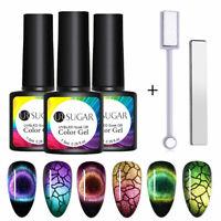 3 Bottles UR SUGAR 9D Magnetic UV Gel Polish Set with 2 Magnetic Sticks Tools