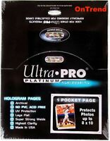 ULTRA PRO 1 POCKET PLATINUM SERIES 8'' x 10'' SLEEVES PHOTO COMIC 100 PAGES BOX