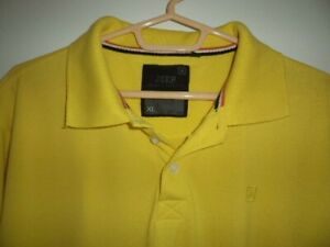 JEEP MENS POLO SHIRT SIZE: XL  COLOUR: YELLOW EXCELLENT CONDITION