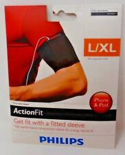 PHILIPS ACTION FIT SPORT ARMBAND SLEEVE MP3 IPOD IPHONE ANDROID L/ XL NEW