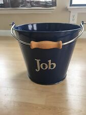 New Pottery Barn Kids Galvanized Metal Blue Bucket Job