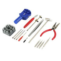 16pcs Watch Repair Tool Kit Band Strap Link Remover Back Opener Screwdriver