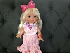 1988 Vintage Mattel PJ Sparkles Doll Lights Up Original Complete Outfit Works