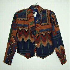 Rhonda Stark Vintage Southwest Aztec Cropped Jacket  Size M