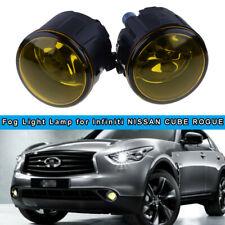 Pair Fog Light Lamp Replacement w/ H11 Halogen Bulb For Nissan Infiniti LH RH