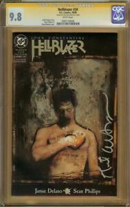Hellblazer #34 CGC 9.8 Signature Series Signed KENT WILLIAMS