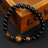 Unisex 8mm Women And Men Jewelry Natural Stone Beaded Bracelet Gifts Hot