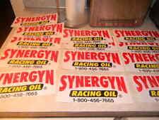 "RARE VINTAGE ""SYNERGYN RACING OIL STICKER"" NHRA DRAG RACING * 9 x 4"""