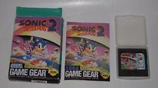 SONIC THE HEDGEHOG 2 SEGA GAME GEAR COMPLETE WITH CARTRIDGE MANUAL BOX