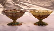 MAGNIFICENT PAIR OF ITALIAN CARVED MARBLE FLUORITE TAZZAS SIGNED S.PAUL