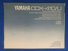 YAMAHA CDX-410 U CD PLAYER OWNERS MANUAL FACTORY ORIGINAL THE REAL THING