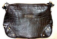 Borsa Donna Versace, borsa da spalla, versus, pelle, coccodrillo, testa di moro