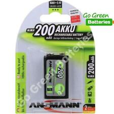 1 x Ansmann 9 Volt PP3 200 mAh NiMH Rechargeable Battery, Stay Charged 9v