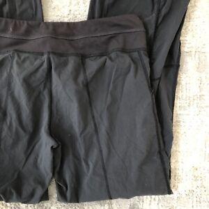 Lucy Women's Get Going Jogger Small Petite SP Gray/Black Nylon Blend Drawstring