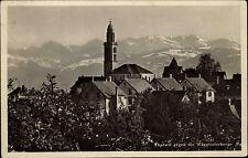 Thalwil Schweiz Switzerland Zürich ~1940 Wäggitaler Berge Kirche Kirchturm Alpen