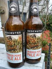"DESCHUTES BREWERY ""MIRROR POND"" PALE ALE 12oz LONG NECK BEER BOTTLE WITH CAP"