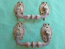 2 grosses poignées pendantes piano laiton doré anciennes tiroirs largeur 16,5 cm