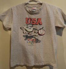 Vintage 1995 Usa Olympics Taz Tazmanian Devil Basketball Shirt Hanes Youth Large