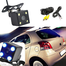 140° Car Rear View Reverse Backup Parking Camera Square 4 LED Night Vision 12V