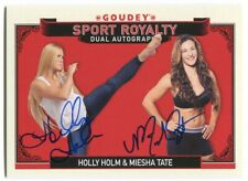 Holly Holm & Miesha Tate 2016 Upper Deck Goodwin Goudey Sport Royalty Dual Auto