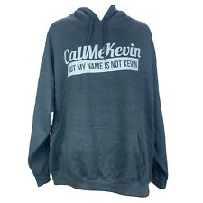 Gildan Heavy Blend Men's Gray Hoodie 2X-Large Call Me Kevin Cool Funny Print
