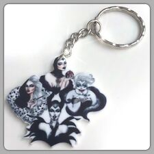Disney Villains Theme Handmade Keyring Bag Charm For Stocking Filler Or Gift #45