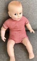 "Vintage Gerber Baby 50th Anniversary 17"" Doll / Moving Eyes Red Gingham"