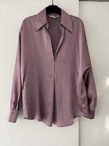 Brand New Vince. silk Button Up Mauve Purple Shirt - Excellent Condition