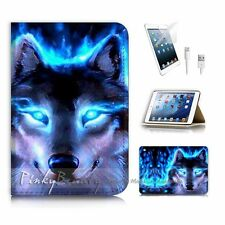 ( For iPad mini Gen 1 2 3 ) Flip Case Cover P3585 Wolf