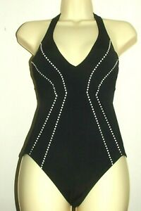Seafolly Swimsuit Beach Squad Deep V Maillot Black RP  £99.00