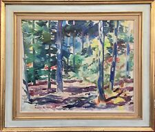 SONNIGER WALD - EXPRESSIV - EJNAR ROEPSTORFF KRAGH (1903-1981) MIDCENTURY OIL