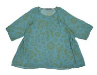 Womens Gudrun Sjoden Viscose Blouse Shirt Sheer Oversized Floral Printed Size S/
