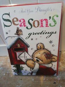 Daughter Christmas Card BNIP