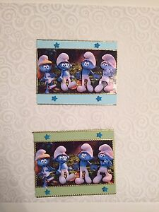 2 x Decoupage Pictures of Smurrff Theme Toppers