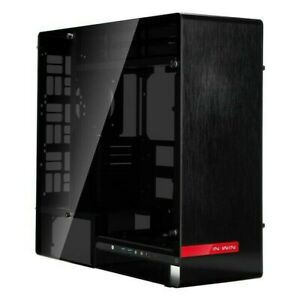 Inwin 909 Black Brushed Aluminium Gaming Case Glass Sides Radiator Compatible