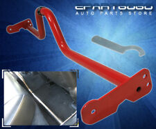 JDM RACING ADJUSTABLE INTERIOR FLOOR CROSS BAR BRACE RED HONDA CIVIC DEL SOL CRX