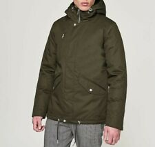 Elvine Mens Cornell Tonal Design Jacket Relaxed Army Green Size M